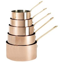De Buyer 6445.18 2.6 Qt. Copper Sauce Pan