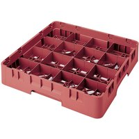 Cambro 16S1058416 Camrack 11 inch High 16 Cranberry Compartment Glass Rack