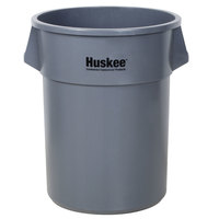 Continental 5500GY 55 Gallon Gray Huskee Trash Can