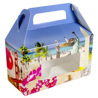 1-Piece 1 lb. Landscape Window Candy Box 6 3/8 inch x 3 inch x 3 1/2 inch 250/Case