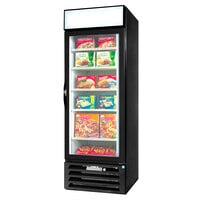 Beverage Air MMF27-1-B Black Marketmax Glass Door Merchandising Freezer with Swing Door - 27 Cu. Ft.