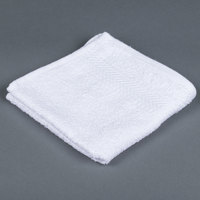 Lavex Lodging 13 inch x 13 inch 100% Ring Spun Cotton Hotel Washcloth 1.5 lb. - 12/Pack