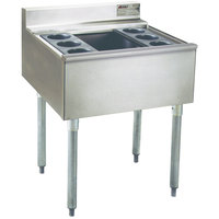 Eagle Group B2CT-22 24 inch Underbar Cocktail / Ice Bin with Six Bottle Holders