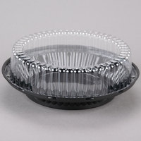 D&W Fine Pack J43-1 9 inch Black Pie Display Container with Clear High Dome Lid - 20/Pack