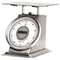 Rubbermaid Pelouze 10200S 200 lb. Mechanical Receiving Scale - Stainless Steel (FG10200S)