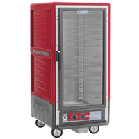 Metro C537-HFC-U C5 3 Series Heated Holding Cabinet with Clear Door - Red