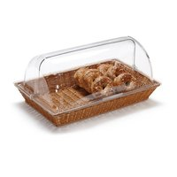 GET CO-3065-CL 21 1/4 inch x 13 inch x 7 inch Designer Polyweave Clear Rectangular Cover for WB-1552 Baskets - 2 / Case