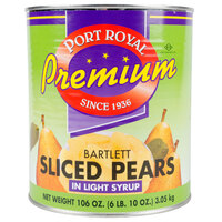 Sliced Pears in Light Syrup 6 #10 Cans / Case
