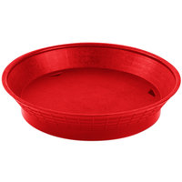 Tablecraft 157510R 10 1/2 inch Red Plastic Diner Platter / Fast Food Basket with Base - 12/Pack
