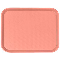 Cambro 1216FF409 12 inch x 16 inch Blush Customizable Fast Food Tray   - 24/Case