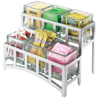Cal-Mil 1723-39 Mission Two Tier Silver Steel Six Jar Display - 14 inch x 9 inch x 7 inch