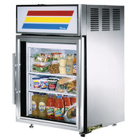 True GDM-5-S-LD Stainless Steel Countertop Display Refrigerator with Swing Door - 5 cu. ft.