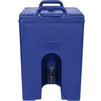 Cambro 1000LCD186 Camtainer 11.75 Gallon Navy Blue Insulated Beverage Dispenser