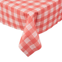 Hoffmaster 236414 50 inch x 108 inch Linen-Like Red Check Patterned Table Cover - 24/Case