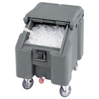 Cambro ICS100L4S180 Light Gray Sliding Lid Portable Ice Bin - 100 lb. Capacity