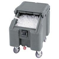Cambro ICS100L4S180 Light Gray Sliding Lid Portable Ice Bin - 100 lb. Capacity
