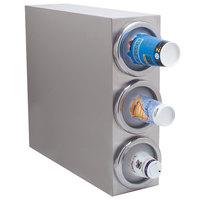 Carlisle 38883G 3 Tube Countertop Vertical Cabinet Cup Dispenser