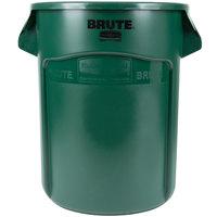 Rubbermaid FG262000DGRN BRUTE 20 Gallon Green Trash Can