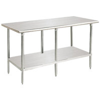 Advance Tabco SAG-2410 24 inch x 120 inch 16 Gauge Stainless Steel Commercial Work Table with Undershelf