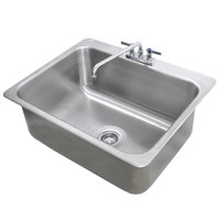 Advance Tabco DI-1-208 Drop In Stainless Steel Sink - 20 inch x 16 inch x 8 inch Bowl