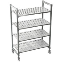 Cambro Camshelving Premium CPMU244867V4480 Mobile Shelving Unit with Premium Locking Casters 24 inch x 48 inch x 67 inch - 4 Shelf