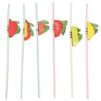 Assorted Paper Fruit Straws - 144 / Box
