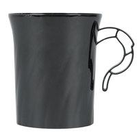 WNA Comet CWM8192BK Classicware 8 oz. Black Plastic Coffee Cup - 192 / Case