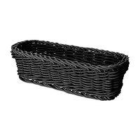 GET WB-1507-BK 10 inch x 4 3/4 inch x 3 inch Designer Polyweave Black Rectangular Basket - 12 / Case