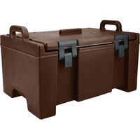 Cambro UPC100131 Dark Brown Camcarrier Ultra Pan Carrier with Handles - Top Load for 12 inch x 20 inch Food Pans