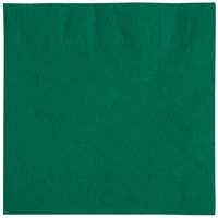 "Choice 10"" x 10"" Hunter Green 2-Ply Beverage / Cocktail Napkins - 250/Pack"