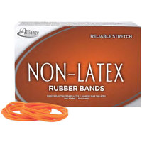 Alliance ALL37546 Non-Latex Assorted Size Orange #54 Rubber Band, 1 lb.