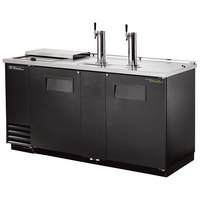 True TDD-3CT 70 inch Three Keg Club Top Beer Dispenser with Two Taps