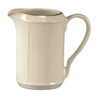 Homer Laughlin 1420-0042 Westminster Gothic Off White 7.75 oz. Creamer - 36/Case