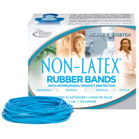 Alliance ALL42339 3 1/2 inch x 1/8 inch Non-Latex Antimicrobial Blue #33 Rubber Band, 1/4 lb. - 180/Box