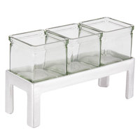 Cal-Mil 1560-4 Aluminum Three Jar Display - 12 inch x 4 1/4 inch x 4 inch