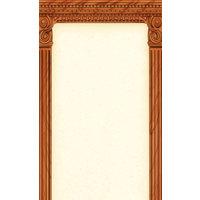 8 1/2 inch x 11 inch Menu Paper - Mediterranean Themed Column Design - 100/Pack