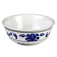 Lotus 32 oz. Round Melamine Swirl Bowl - 12/Case