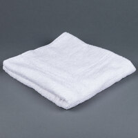 Lavex Lodging 24 inch x 50 inch 100% Open End Cotton Hotel Bath Towel 10.5 lb. - 12/Pack