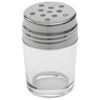 American Metalcraft GLACT2 2 oz. Clear Glass Contemporary Cheese Shaker with Stainless Steel Top
