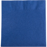 Choice 10 inch x 10 inch Customizable Navy Blue 2-Ply Beverage / Cocktail Napkins - 1000 / Case