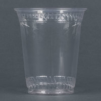 Fabri-Kal Greenware GC12S 12 oz. Customizable Compostable Clear Plastic Cold Cup - 1000/Case