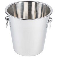 7 1/2 inch Stainless Steel Wine / Champagne Bucket - 4 Qt.