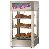 Star HFD-1-CR 15 inch Humidified Pizza Display Case with Three 12 inch Pizza Shelves - 120V