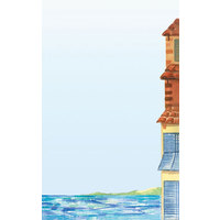 8 1/2 inch x 14 inch Menu Paper - Mediterranean Themed Venice Design Right Insert - 100/Pack