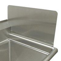 Advance Tabco K-700F-24 Removable Sink Side Splash - 24 inch x 12 inch
