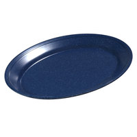 Carlisle 4356035 Dallas Ware 12 inch x 8 1/2 inch Cafe Blue Oval Platter 24 / Case