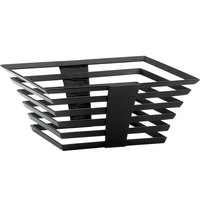 Cal-Mil 1466-5-13 Black Metal Elevation Riser - 12 inch x 12 inch x 7 inch