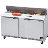 Beverage-Air SPE60-12 60 inch Two Door Refrigerated Salad / Sandwich Prep Table