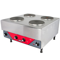 Nemco 6311-2-240 Electric Countertop Raised Hot Plate with 4 Solid Burners - 240V