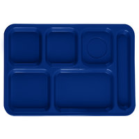 Carlisle P614R14 10 inch x 14 inch Blue Right Hand 6 Compartment Tray